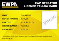 EWPA Yellow Card (VL,SL,BL)