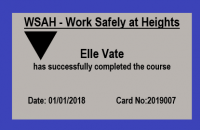 WSAH Work Safely at Heights